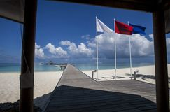 strand maldives Fotografering för Bildbyråer
