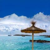 Strand Mallorca Calvia Majorca Playa de Illetas Lizenzfreie Stockbilder