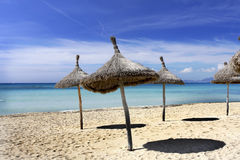 Strand in Mallorca Spanje Stock Foto