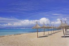 Strand in Mallorca Spanje Royalty-vrije Stock Afbeeldingen