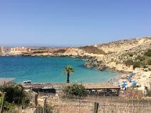 Strand in Malta Royalty-vrije Stock Afbeeldingen