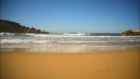 Strand Maltas Riviera, Mgarr stock video