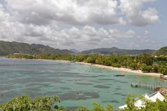 Strand Martinique - sainte-Anne royalty-vrije stock fotografie