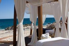 Strand-Massage Stockfoto