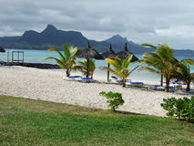 Strand in Mauritius Royalty-vrije Stock Afbeelding