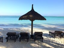 strand mauritius Arkivfoton