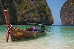 Strand Maya Bay auf der Insel von Phi Phi lizenzfreie stockbilder