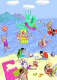 Strand med draken Royaltyfri Bild