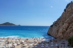 Strand, Meer, Fethiye, Mugla, die Türkei stockfoto