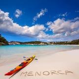 Strand Menorca Cala Galdana in Ciutadella an balearischem Lizenzfreie Stockfotos