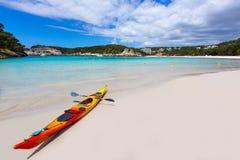 Strand Menorca Cala Galdana in Ciutadella an balearischem Stockfoto