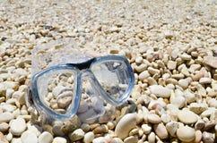 Strand met beschermende brillen Stock Fotografie