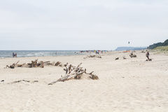 Strand met boegen royalty-vrije stock fotografie