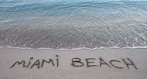 strand miami Royaltyfri Fotografi