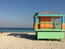 strand miami Royaltyfria Foton