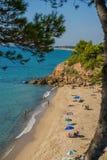 Strand Miami Playa, de blauwe hemel van Spanje Stock Foto's