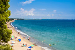 Strand in Miami Playa met blauwe hemel Royalty-vrije Stock Foto