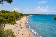 Strand in Miami Playa met blauwe hemel Royalty-vrije Stock Foto's