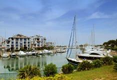 Strand Misano Adriatico, Rimini Riviera, Emilia Romagna, Italien stockfotos