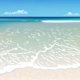 Strand mit einer Welle Lizenzfreie Stockfotos