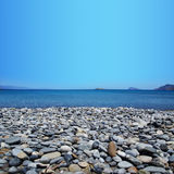 Strand mit Kiesel Sitia Kreta Stockfoto