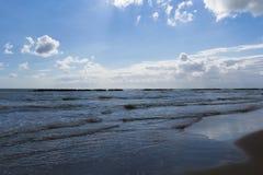Strand mit Meer shaken-5 Lizenzfreie Stockbilder