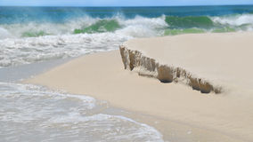 Strand mit milder Sanddüne-Abnutzung stockbild