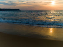 Strand mit Palmen Stockfotografie