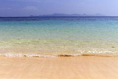 Strand mit Sand Stockfotografie