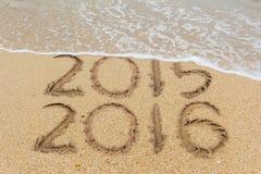 Strand mit 2016 Sanden Lizenzfreie Stockfotografie