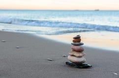 Strand in Mittelmeer-Valencia von Spanien Stockfoto