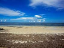 Strand in Mombasa, Kenia royalty-vrije stock foto