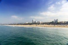 strand monica santa Arkivfoto