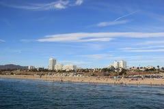 strand monica santa Arkivbild