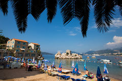 Strand Montenegros Milocer Stockfoto