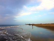 Strand morgens Stockbild