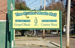 The Strand Music Hall, Millington Tennessee Royalty Free Stock Photo