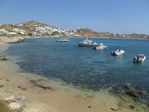Strand in Mykonos Royalty-vrije Stock Fotografie