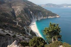 Strand Myrtos Royalty-vrije Stock Afbeeldingen