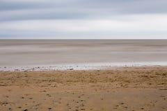 Strand nära den Pevensey fjärden royaltyfri fotografi