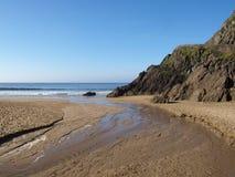 Strand nära det Slea huvudet Royaltyfria Bilder