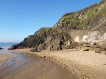 Strand nära det Slea huvudet Royaltyfri Fotografi