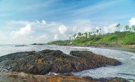 strand nära tropiska reafs Royaltyfri Fotografi