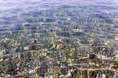 Strand Närbild adriatic hav Arkivfoton