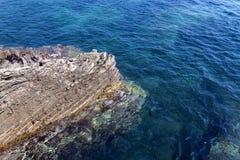 Strand Närbild adriatic hav Arkivbild