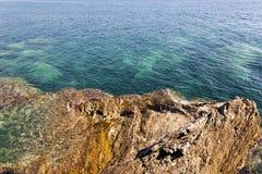 Strand Närbild adriatic hav Fotografering för Bildbyråer