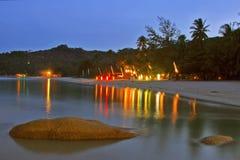 Strand nach Sonnenuntergang Stockfoto