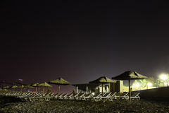 Strand nachts. Lizenzfreie Stockbilder