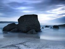 Strand nachts stockfotos