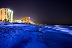 Strand nachts Lizenzfreie Stockfotografie
